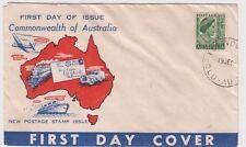 Stamp Australia 1&1/2d queen mum Neville Menz Darling Downs generic cachet FDC