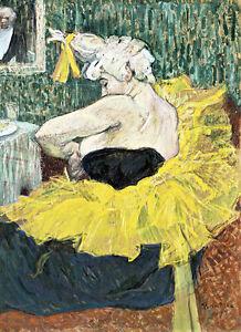 The Clown Cha-U-Kao by Henri de Toulouse Lautrec Quality Canvas Print
