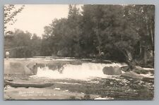 Beartrap Falls RPPC Wolf River—Antique Photo—Keshena Shawano 1910s