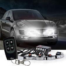 1 Kit LED Car Wireless Strobe Emergency Warning Lights Bars Deck Dash Grill
