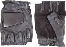 VIPER LEATHER FINGERLESS Tactical Assault GLOVES - SIZE SMALL / BLACK / SECURITY