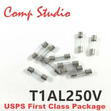 10Pcs T1AL250V 5X20mm Slow Blow Fuse Slow-Acting Fuse Time-Delay Fuse 1A 250V