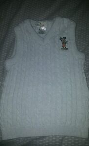 Disney Store Mickey Mouse Holiday Christmas Sweater Vest Size S