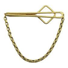 "Vintage SWANK Gold Tone Rolo Link Chain Tie Bar Slide Clip 2 1/4"" Wide"
