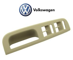 For Volkswagen Jetta Golf Passat 00-04 Front Driver Left Beige Door Trim Bezel