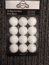 Plastic Indoor-Outdoor White Practice Golf Balls 12-Count