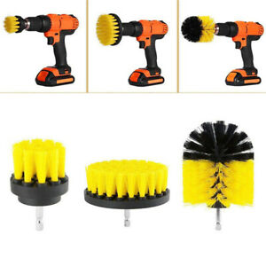 3pcs/set Drill Power Scrub Clean Brush For Car Furniture Interiors Cleaning Tool