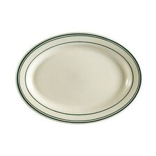 """CAC China GS-41 Greenbrier Platter, 13-1/2"""", Green Band/American White 12 CT"""