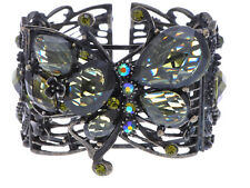 Glossy texture Deep Green Special  Olivine Rhinestone Butterfly Bracelet Jewelry
