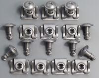 20 Teile Unterfahrschutz Motor Schrauben mit Halteklammern Clips BMW E39 E38 E52