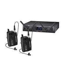Audio Technica 2x Lavalier Digital Wireless Microphone System 10 PRO ATW-1311/L