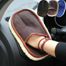 Car Dry Wet Cleaning Styling Wash Wool Soft Cloth Brush Mitten Cleaner 15*24cm