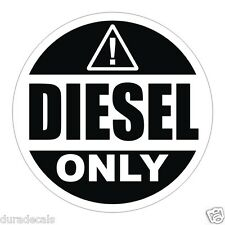 "2"" Diesel Only Vinyl Decal / Sticker / Label Fuel Door Label Truck Can Tank"
