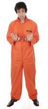 Psyco Hanibal Lector Fancy Dress Up Costume Halloween  Prisoner Overall COSTUME