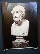 PHOTO ANCIENNE SCULPTEUR BUSTE HOMME 1880