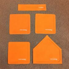 FORTRESS Throw Down Orange Rubber Bases | COMPLETE SET – Baseball Bases