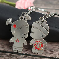 1Pair Boy and Girl Bride Groom Keychain Couple Lover Keyring G gi