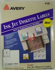Avery Ink Jet Diskette Labels 16 Sheets 9 Labels Per Sheet, 225 labels, 8196