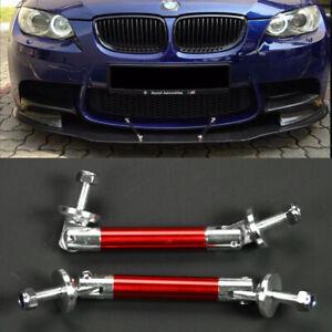 "3.4"" Red Strut Tie Bar Support Rod For VW Porsche Bumper Lip Splitter Diffuser"