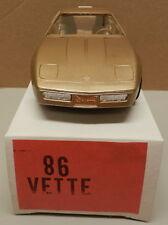 1986 86 GOLD CHEVY CORVETTE VETTE DEALER NOS AMT MPC PROMO PROMOTIONAL
