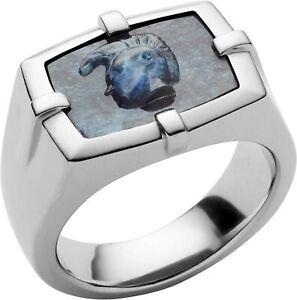 NIB Diesel DX1176040  Men's African Blue Stone Ring