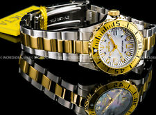 Invicta Womens Pro Diver Swiss Parts 18k Yellow Gold Plated Silver Watch 6895