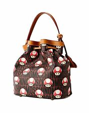 SALE $850 Moschino Couture Jeremy Scott Super Mario Mushroom Nintendo Bucket Bag