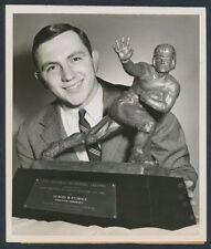 """1951 Dick Kazmaier, """"Heisman Winner Poses with Ultimate Prize"""" Rare Photo"""