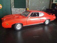 "1:18 SCALE 1969 PONTIAC GTO ""THE JUDGE"" ORANGE MOTORMAX"