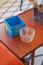 Art Glass bowl By KOSTA BODA. Period Item With Box. Sweden, Rare