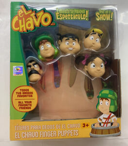 El Chavo Finger Puppets, 5-Pack, 1.5 Inches NIB New HTF RARE