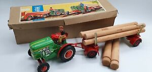Tin Toy TIPPCO Tractor with trailer TCO-65 with Original box