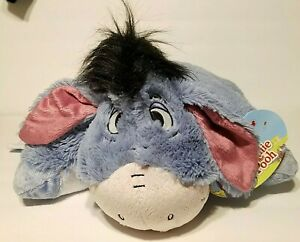 "Pillow Pets Disney Eeyore Stuffed Animal Plush 16"" EUC"