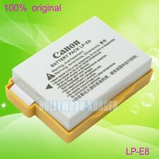 Genuine Canon LP-E8 LPE8 Battery for EOS 550D 600D Kiss X4 Rebel T3i T2i LC-E8E