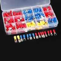 280pcs Crimp GAUGE VINYL Spade Terminal Insulated Electrical Wire Connector Kit