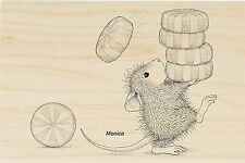HOUSE MOUSE Christmas Candy Mint Wood Mounted Rubber Stamp STAMPENDOUS HMP34 New