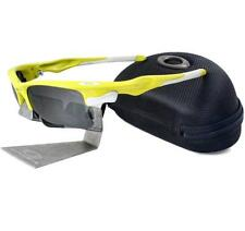 Oakley Custom FAST JACKET XL Lemon Peel Frame Black Iridium Lens Mens Sunglasses