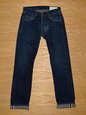 Mens Rag & Bone RB 15X Slim Straight Rinse Selvedge dark blue jeans 29 x 33