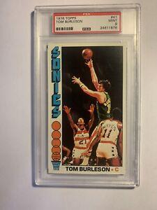 1976 Topps Tom Burleson PSA 9 Mint Sonics