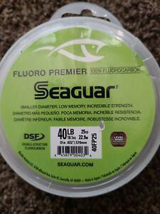 SEAGUAR FLUORO PREMIER Fluorocarbon Leader 40lb/ 25yd NEW! #40FP25