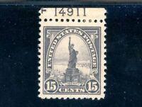 USAstamps Unused XF-Superb US Liberty Plate # Single Scott 566 OG MHR