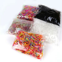 1000pcs Multicolor Rubber Hairband Rope Ponytail Holder Elastic Hair Band Ties