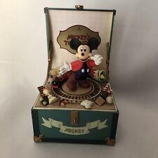 "Rare Disney Schmid Mickey's Toy Chest ""Toy Land"" Music Box"