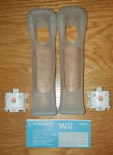 Nintendo Wii Official Motion Plus Adapters X 2 With Skins Free Post