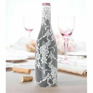 Wedding Table Centrepiece Decorations Lace Wine Bottle Cover Low Reception