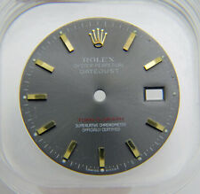 Gray & Yellow Gold Watch Dial Genuine Factory Rolex 36mm Turn-o-graph 116263