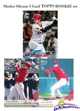 SHOHEI OHTANI 2018 Topps (3) Card FIRST EVER PRINTED TOPPS ROOKIES w/2 TOPPS NOW