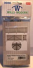 Wills SSM316 Modern Palisade Fencing & Gates - 1460mm '00' Gauge Plastic Kit 1st