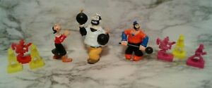 Vntg POPEYE the SAILOR PVC Plastic Cake Topper Figure Lot