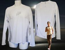 Nike+ Muy Ligero Reflectante Ventilado Correr Camiseta Blanca TALLA MEDIANA M